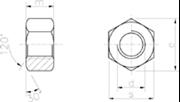 Dado esagonale largo per carpenteria Zincato Bianco
