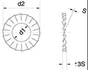 Rondelle con dentellatura esterna Z.D. Bianco