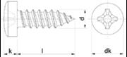 Vite Autofilettante Testa Cilindrica Impronta Croce Nichelata