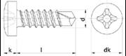 Vite autoperforante Testa Cilindrica Impronta Croce Nichelata