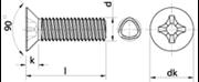 Vite autoformante (trilobata) Testa Svasata Piana Impronta Croce