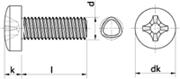 Vite autoformante (trilobata) Testa Cilindrica Impronta Croce