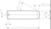 Vite Senza Testa (Grano) con intaglio ed estremità piana Zincato Bianco