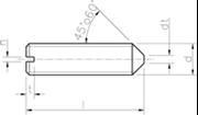 Vite Senza Testa (Grano) con intaglio ed estremità conica