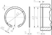 Anelli elastici per fori (Seeger I) Z.D. Bianco