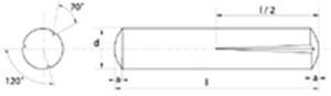 Immagine di Spine con intagli conici a 1/2 lunghezza (Kerb) Zincato Bianco