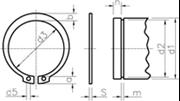 Anelli elastici per alberi (Seeger E)